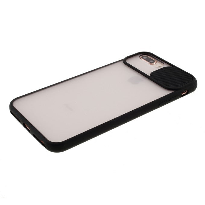 Matte PC + TPU Protective Case with Slide Camera Cover for iPhone 8 Plus 5.5 inch