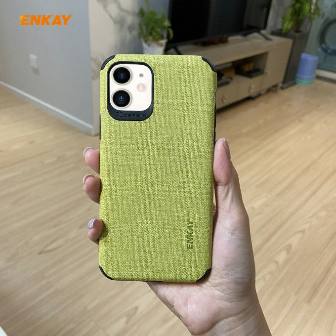 Cloth Texture PC + TPU Protective Case for iPhone 11 6.1 inch