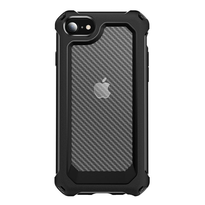 Carbon Fiber Texture PC + TPU Protective Case for iPhone SE (2nd Generation)