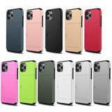 PC + TPU Protective Case with Card Slots for iPhone 12 5.4 inch