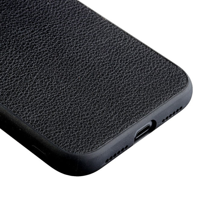 Genuine Leather Coated PC + TPU Protective Case for iPhone 12 Pro 6.1 inch
