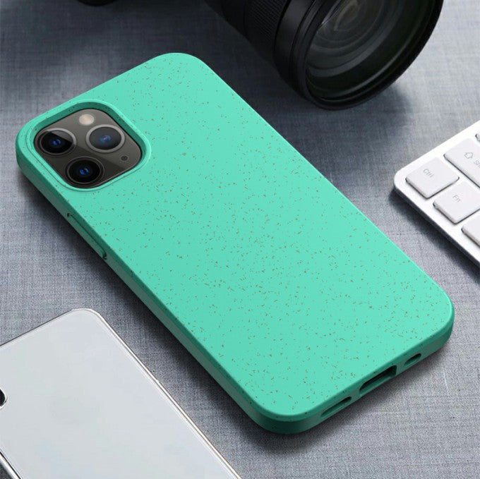 Matte Eco-Friendly Wheat Straw TPU Case for iPhone 12 5.4 inch