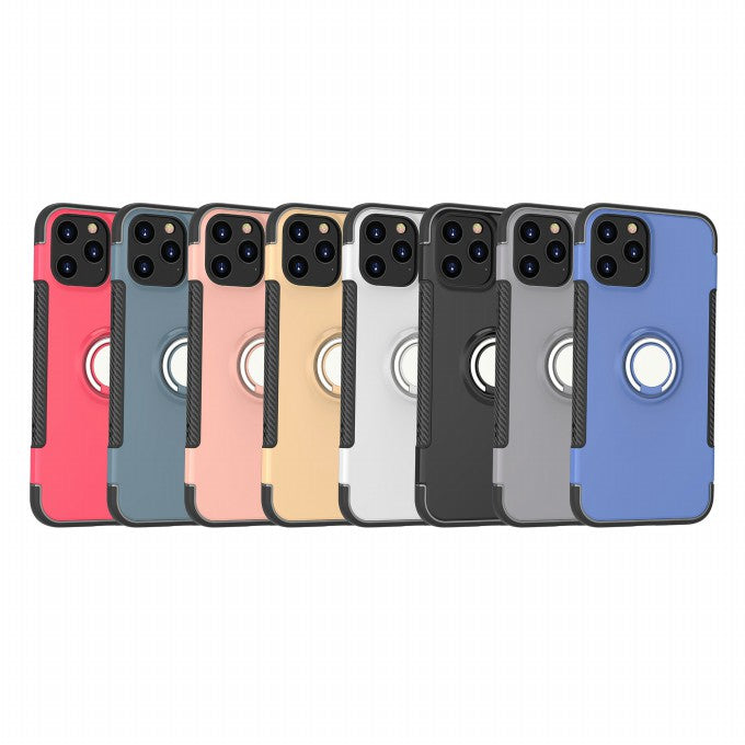 PC + TPU Protective Case with  Finger Ring Kickstand for iPhone 12 Pro Max 6.7 inch