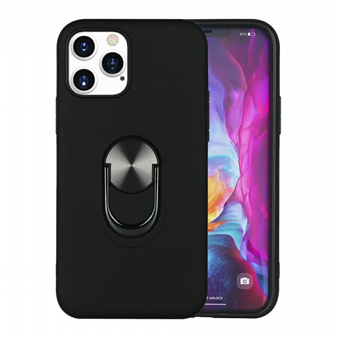Rubberized PC + TPU Protective Case with Kickstand for iPhone 12 Pro Max 6.7 inch