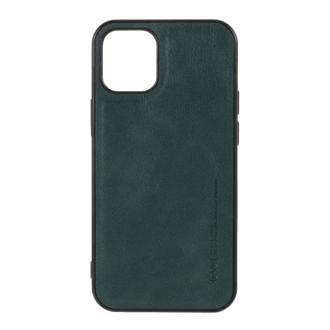 X-LEVEL Vintage Style PU Leather Coated TPU Phone Shell for iPhone 12 5.4-inch