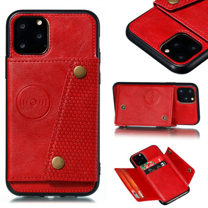 PU Leather Coated TPU Case [Built-in Vehicle Magnetic Sheet] for iPhone 12 Pro/12