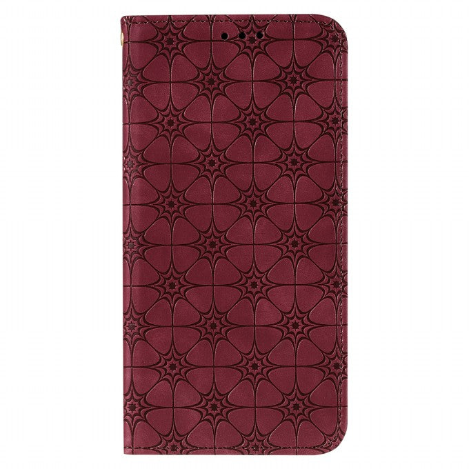 Imprint Flower Texture Auto-absorbed Phone Case for iPhone 12 Pro/12