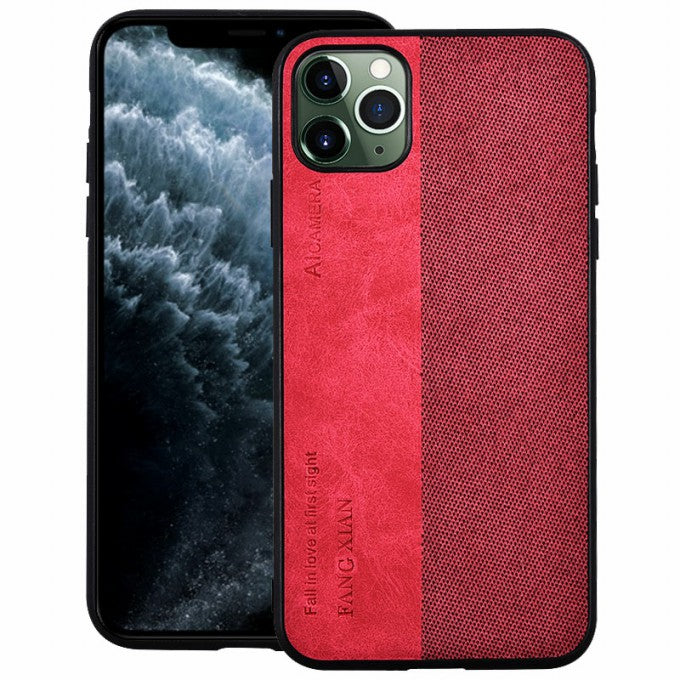 PU Leather Splicing PC+TPU Combo Phone Case for iPhone 12 Pro/12
