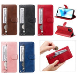 Zipper Pocket Leather Protector Wallet Stand Case for iPhone 12 Pro/12