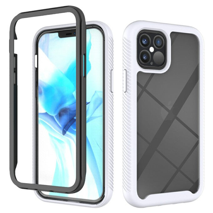 Shockproof PC + TPU Hybrid Phone Protective Case for iPhone 12 Pro/12