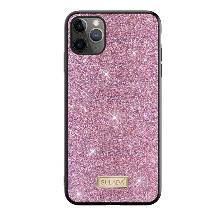Glittery Surface Leather TPU Protector Case for iPhone 12 mini Shell