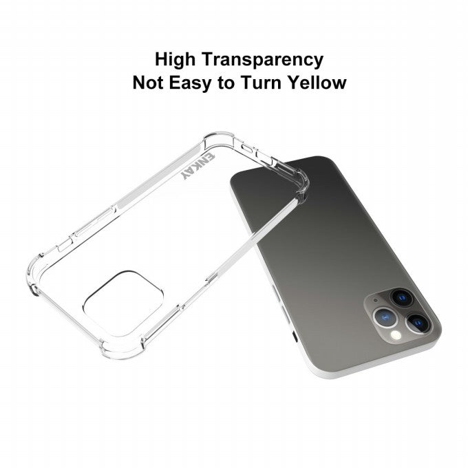 Clear TPU Case with 0.26mm 9H 2.5D Tempered Glass Protector for iPhone 12/12 Pro