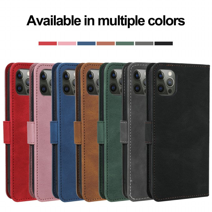 Splicing Stitching Wallet Stand Skin-touch Leather Case for iPhone 12/12 Pro