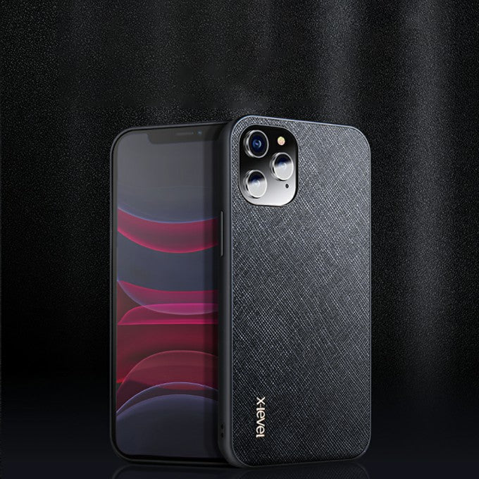 TPU + PC Cloth Texture Phone Protective Case for iPhone 12/12 Pro