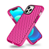 Grid Pattern Surface Soft TPU Phone Case for iPhone 12/12 Pro
