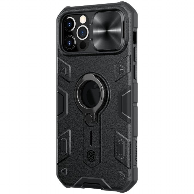 Armor Case PC TPU Hybrid Phone Cover with Ring Kickstand for iPhone 12/12 Pro