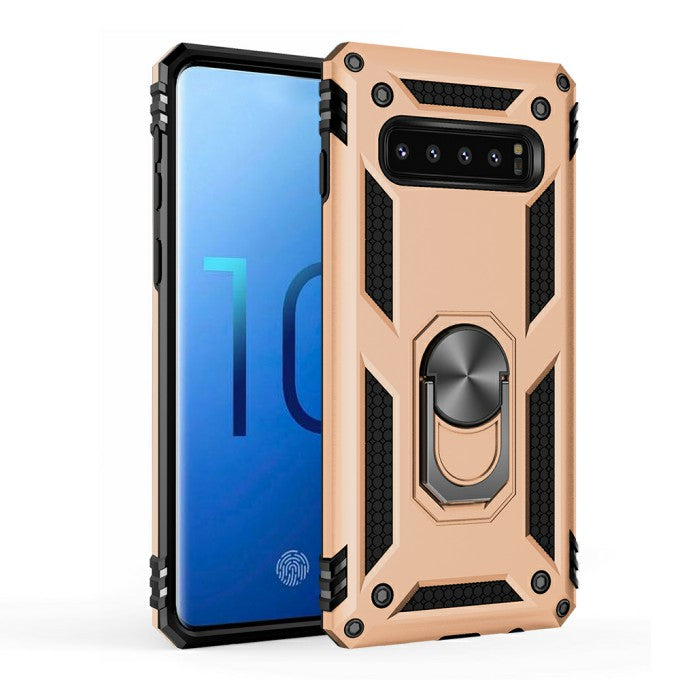PC + TPU Protective Case with Kickstand for Samsung Galaxy S10