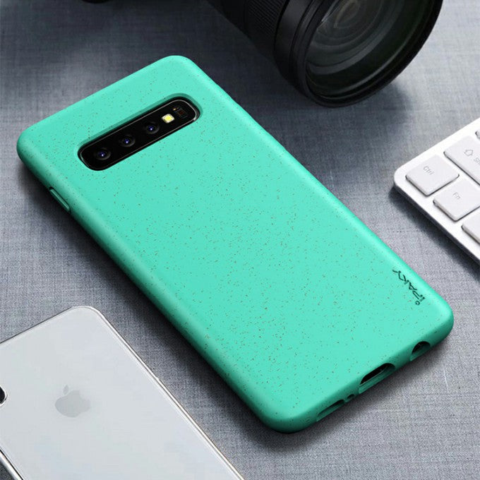 IPAKY Matte Wheat Straw TPU Phone Accessory Case for Samsung Galaxy S10