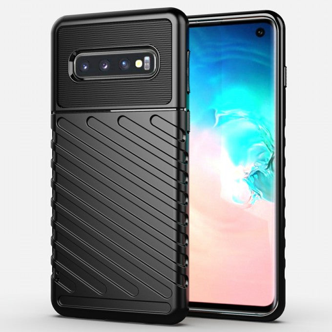 Thunder Series Twill Texture Soft TPU Back Phone Case for Samsung Galaxy S10