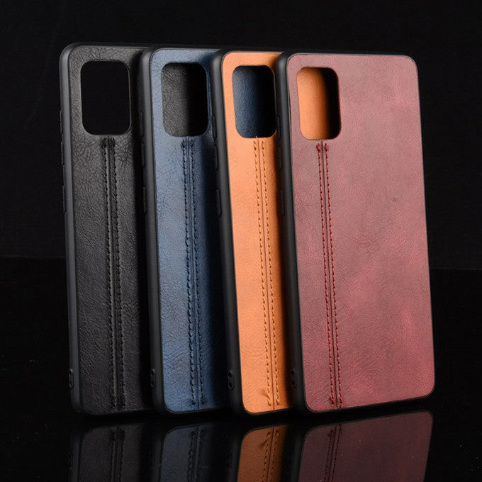 Leather + PC + TPU Protective Case for Samsung Galaxy A71