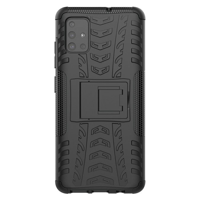 PC + TPU Protective Phone Case with Kickstand for Samsung Galaxy A51