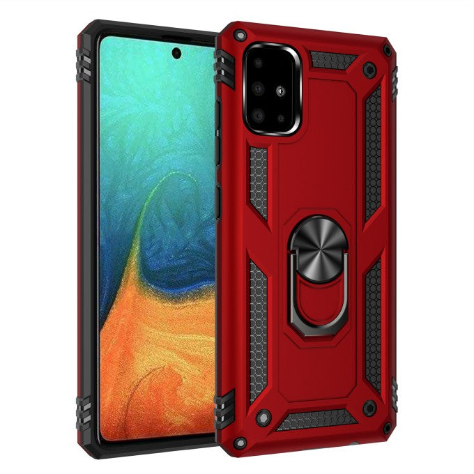 Hybrid Cover PC TPU Kickstand Armor Phone Case for Samsung Galaxy A71