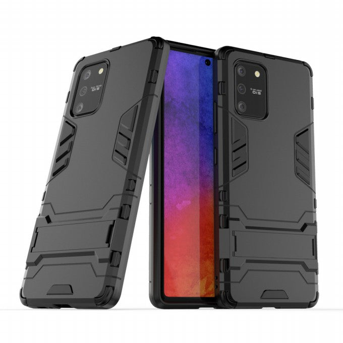 Cool Guard PC + TPU Protective Case with Kickstand for Samsung Galaxy A91