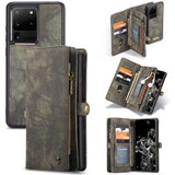 Wallet Split Leather Phone Case for Samsung Galaxy S2Ultra
