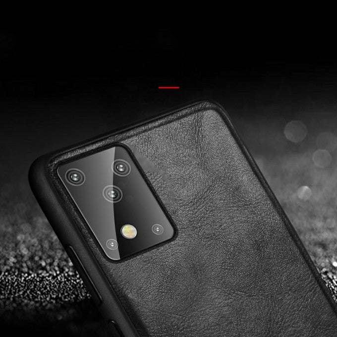 SULADA PU Leather Coated TPU Mobile Phone Case for Samsung Galaxy S20 Plus