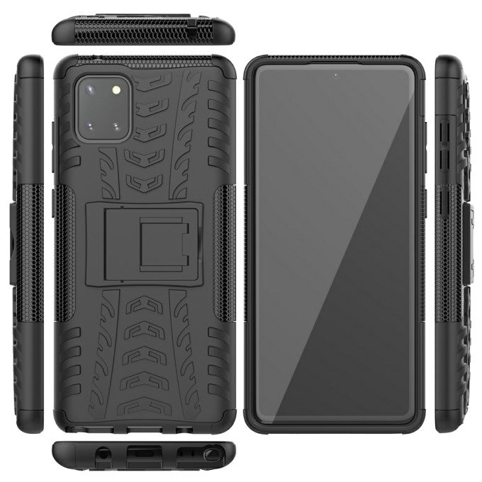 PC + TPU Protective Case with Kickstand for Samsung Galaxy A81