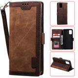 Retro Splicing Leather Phone Case for Samsung Galaxy A51