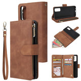 Card Slot Zipper Pocket Multiple s Leather Phone Case for Samsung Galaxy S2Plus