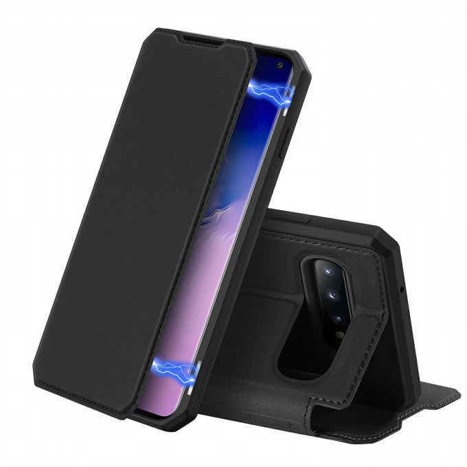 DUX DUCIS Skin X Series Auto-absorbed Flip Leather Cover for Samsung Galaxy S10