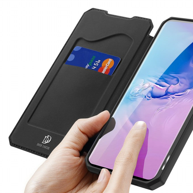 Auto-absorbed Flip Leather Phone Case for Samsung Galaxy S10