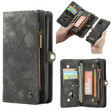 Wallet Multi-slot Vintage Split Leather Phone Case for Samsung Galaxy A71