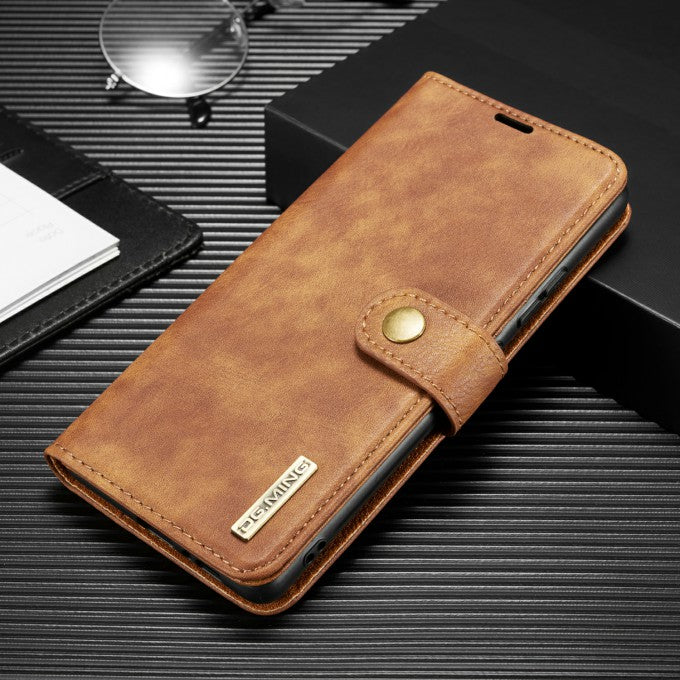 DG.MING Detachable 2-in-1 Split Leather Wallet + PC Cover for Samsung Galaxy A91/S10 Lite