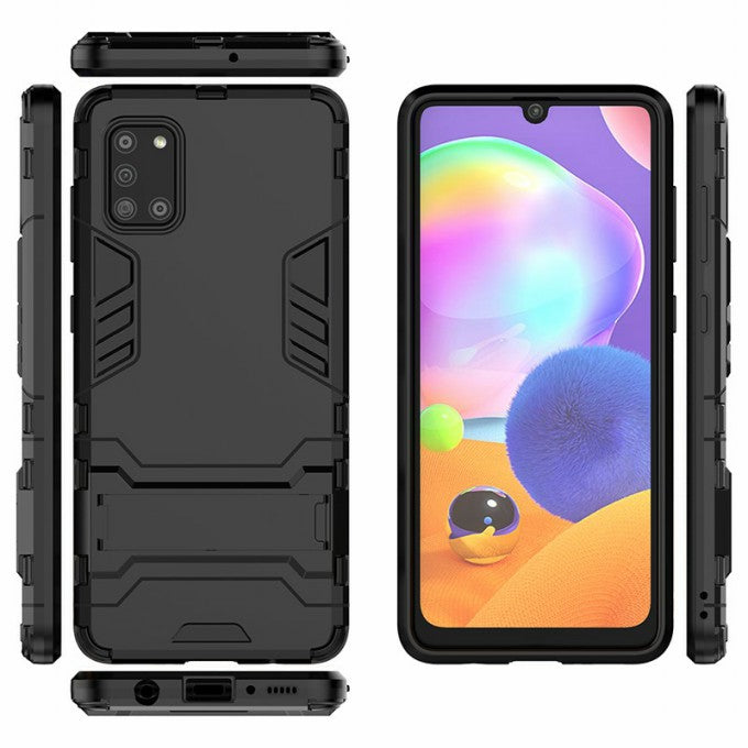 PC + TPU Protective Case with Kickstand for Samsung Galaxy A31