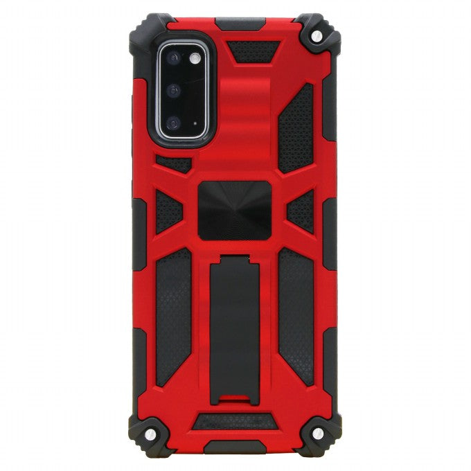Kickstand Armor Dropproof PC TPU Hybrid Case with Magnetic Metal Sheet for Samsung Galaxy S20