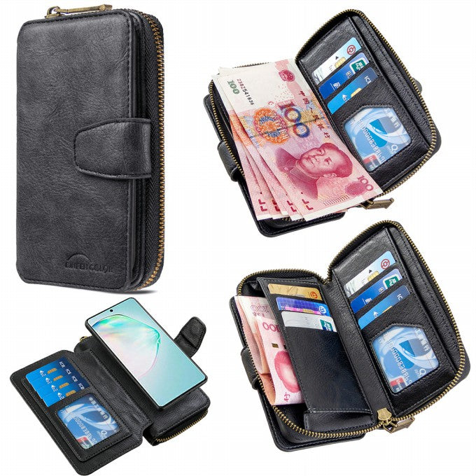 BF001 Leather Wallet Cover Anti-Gravity Phone Case for Samsung Galaxy A91/S10 Lite