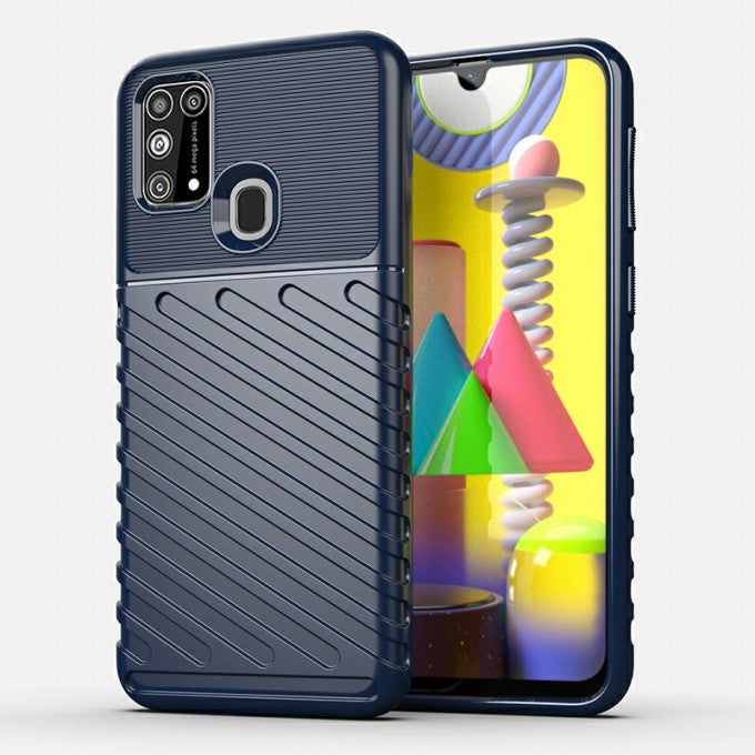 Twill Texture TPU Protective Case for Samsung Galaxy M31