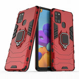 PC + TPU Protective Case with Ring Kickstand for Samsung Galaxy A21s