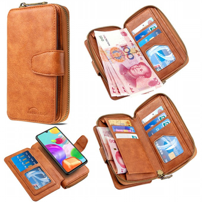 Zipper Wallet Design Leather Cover for Samsung Galaxy A41 (Global Version)