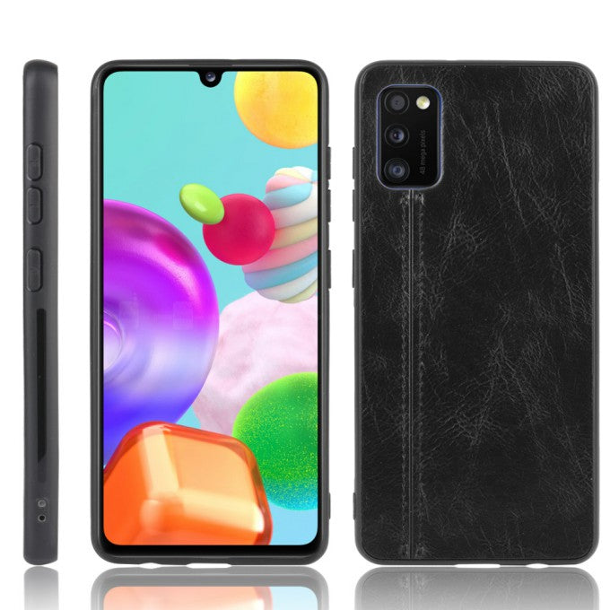 PU Leather Coated PC + TPU Hybrid Cover Case for Samsung Galaxy A41 (Global Version)