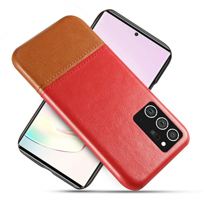Dual-color Splicing PU Leather Protective Case for Samsung Galaxy Note 20