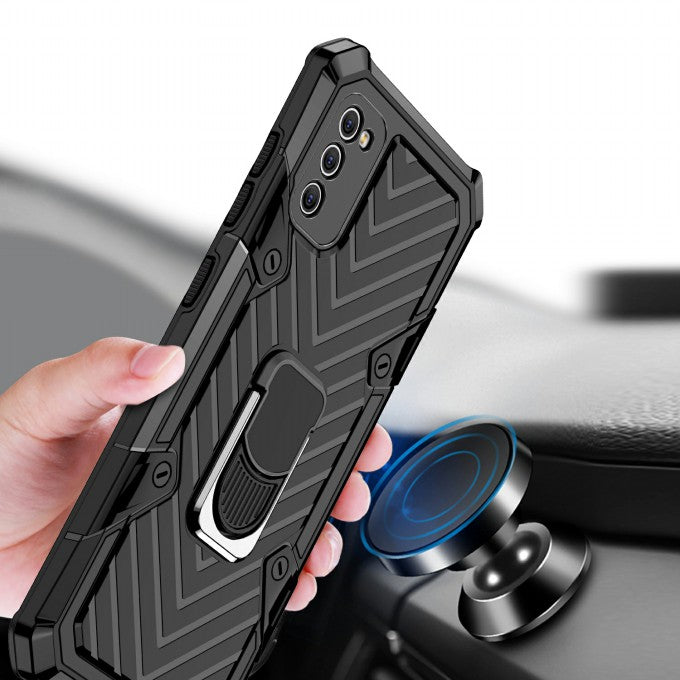PC + TPU Protective Case with Kickstand for Samsung Galaxy A41 (Global Version)