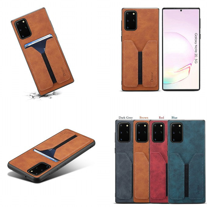 PU Leather Protective Phone Case with Card Slots for Samsung Galaxy Note 20