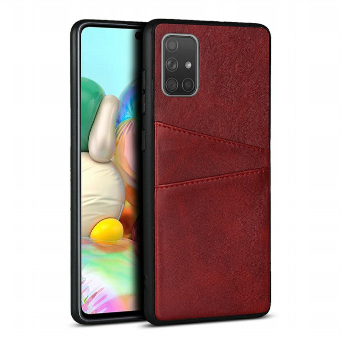 PU Leather Protective Case with Card Slots for Samsung Galaxy A71