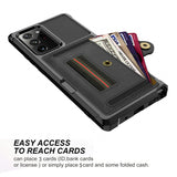 PU Leather + TPU Protective Case with Elastic Ring Strap for Samsung Galaxy Note2Ultra