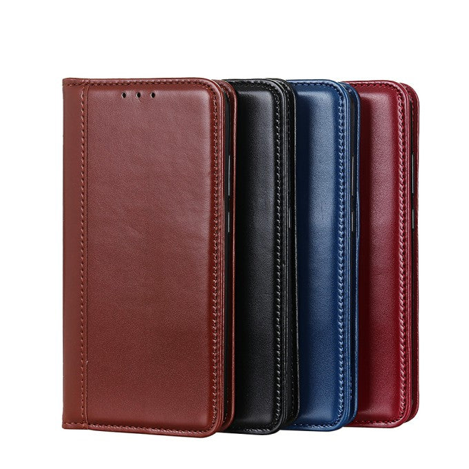 Auto-absorbed Leather Wallet Phone Case for Samsung Galaxy S21 Ultra