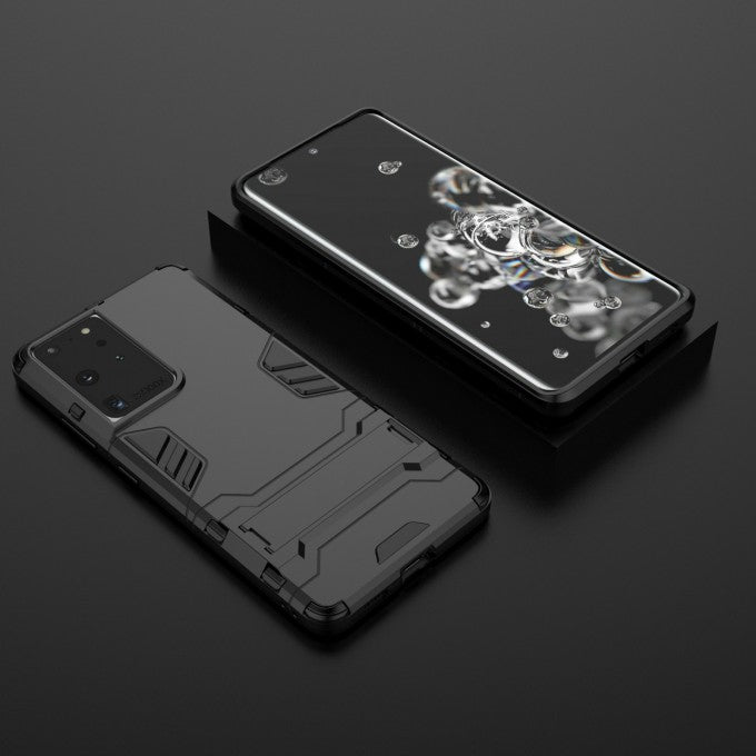 PC + TPU Hybrid Case 2-in-1 Kickstand Case for Samsung Galaxy S21 Ultra